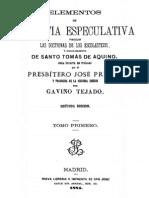 Elementos de Filosofia Especulativa-Tomo I-Prisco