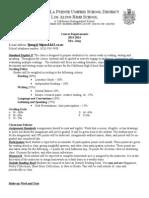2012-13los altos english 2 course requirements