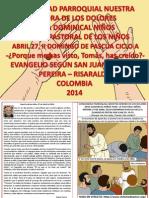 HOJITA EVANGELIO  II DOMINGO DE PASCUA CICLO A COLOR