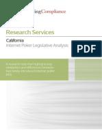 California —Internet Poker Legislative Analysis
