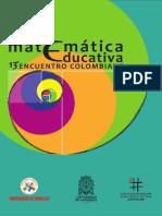 Matematica Educativa 13 Encuentro Colombiano Ecme