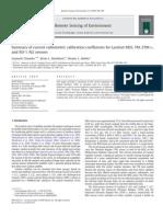 Landsat Calibration Summary RSE