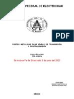 J6100-54- Postes Metalicos y No Metalicos Para Lineas de Subtransmision