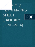 RMBA Mid Term Marks Sheet [January June-2014]