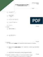 Primer examen de la 1ª evaluacion (2º ESO)