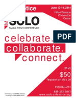 2014 Solo & Small Firm Conference - 2nd Notice