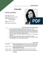 CV Magdalena Franczak Eng
