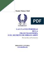 Manly Palmer Hall - Las Claves Perdidas de La Francmasonería