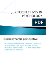 Major Perspectives in Psychology
