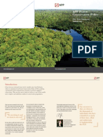 APP Forest Conservation Policy One Year Summary