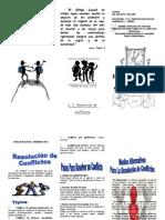 Triptico Resolucion de Conflictos 2014