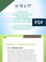 6. Exposicion Excel, Temas 16 y 17