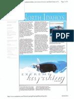 North Idaho Kayaking in Lifestyle Magazine Article