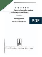 Weber - Musiksoziologie