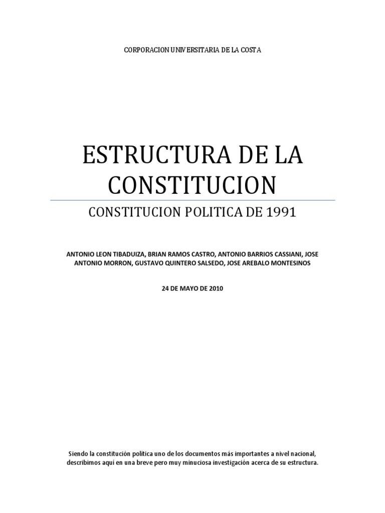 Estructura De La Constitucion