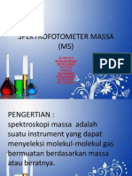 Spektrofotometer Massa (Ms)