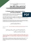 Objectifs de la Da'wa Salafiya