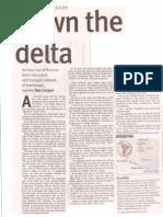 Cruising through the Tigre Delta in The Australian Newspaper