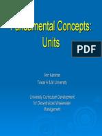 Fundamental Concepts 4 Units