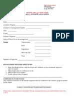 Travel Application Form - 9-20