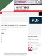 Los riesgos de reclamar tierras   ELESPECTADOR.COM