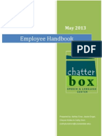 master chatterbox employee handbook final
