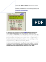 Comunicacion Entre Un Pic 18f4550 y Un Modo de Conversor Analogico Digital Por i2c