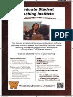 2014 Graduate Student Teaching Institute Poster