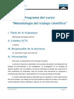 Programa Metodologia Trabajo Cientifico