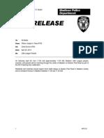2014 MPD Press Release Little League Parade
