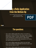 Scaling a Rails Application from the Bottom Up