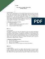 Franceza Oral 2005