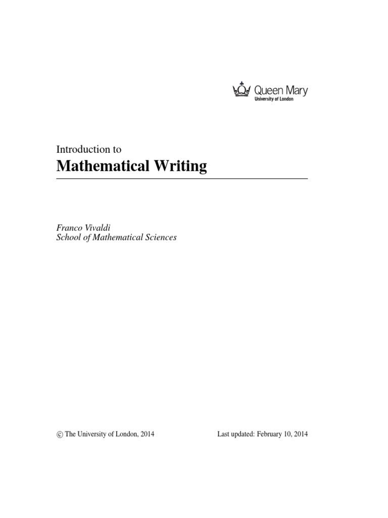 introduction to mathematical writing vivaldi set mathematics introduction to mathematical writing vivaldi set mathematics mathematics