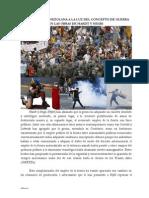 La Intifada Venezolana a La Luz Del Concepto de Guerra en Hardt y Negri