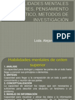 Habilidades Mentales Superiores, Pensamiento Critico, Metodos