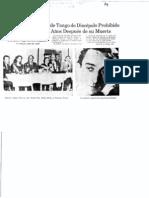 Díaz de Léon Raquel Cambalache, El Rebelde Tango de Discépolo Prohibido en Argentina