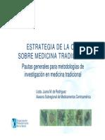 10feb Estrategia de OMS Medicina Tradicional Dra Juana de Rodriguez