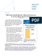 CBO Finds Health Reform's Medicaid Expansion Is an Even Better Deal for States
