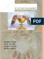 Sacrament of Holy Eucharist (1)