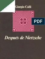 Giorgio Colli-Después de Nietzsche