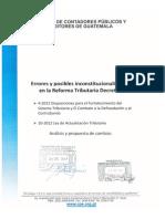 Analisis y Propuesta de Cambio Decretos 4 y 10 2012 Recibido Congreso
