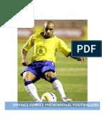 physics of the football kick