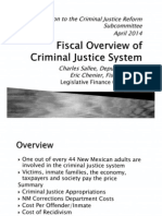 LFC Report to New Mexico Criminal Justice Reform Subcommittee