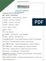 Algumas Frases Basicas Em Japones