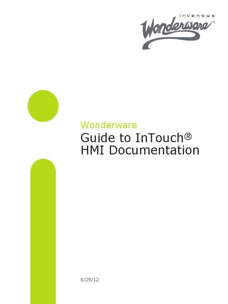 Wonderware Guide to InTouch® HMI Documentation | Search Engine Indexing |  User Interface