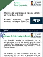 Classificação Dogmática Dos Métodos e Efeitos Da Interpretação Jurídica