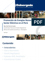 Energias Renovables en El Sector Electrico