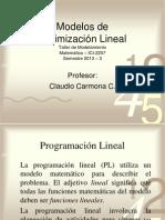 3. Modelos de Optimizacion Linea