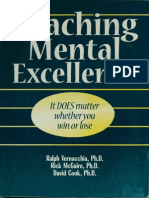 Coaching Mental Excellence It Does Matter Whether You Win or Lo