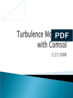 21-February 21 2011 Turbulence Modeling With Comsol